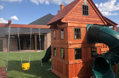 Playset Staining Service Rockwall
